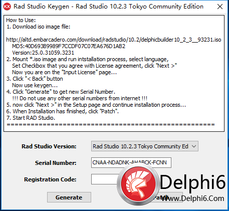 rad studio 10.2.3 keygen source
